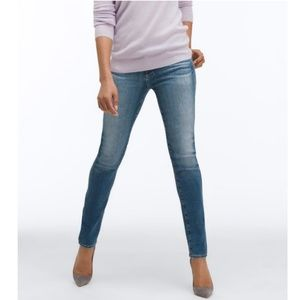 AG Blue Prima Mid-rise Stretch Cigarette Jeans 28